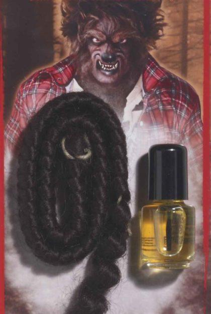 Werewolf crepe hair and spirit gum