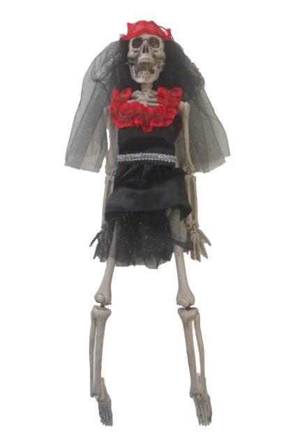 small skeleton bride decoration