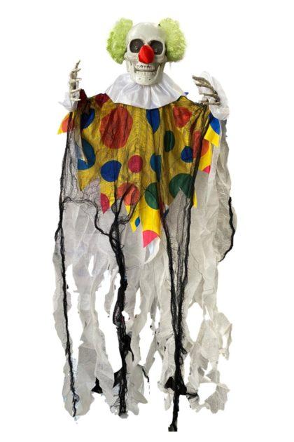 Scary clown halloween decoration