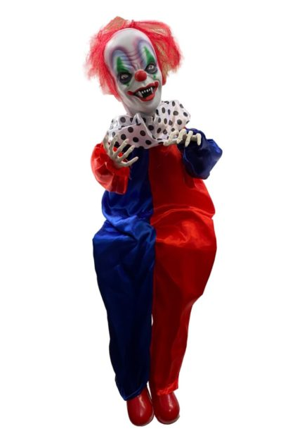 Animated Scary clown halloween decoration prop