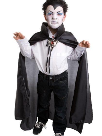 black satin child cape