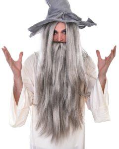 grey wizard beard and wig