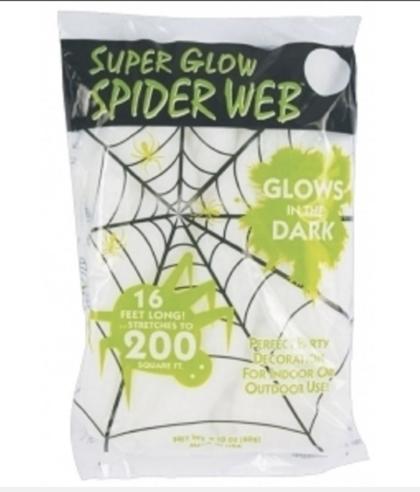 glow in dark spider web
