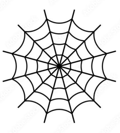 chenile spider web