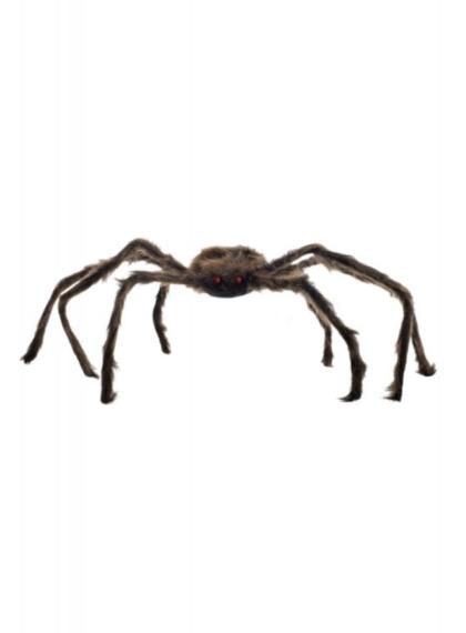 Brown furry spider decoration