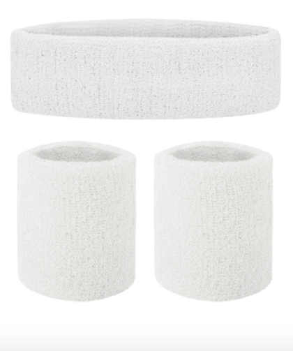 White sweatbands