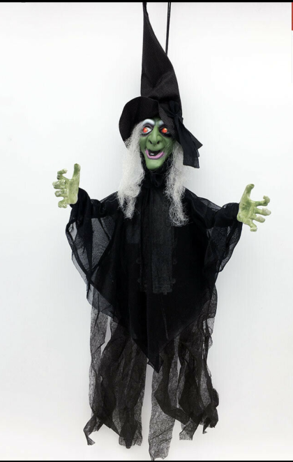 Shaking green witch prop