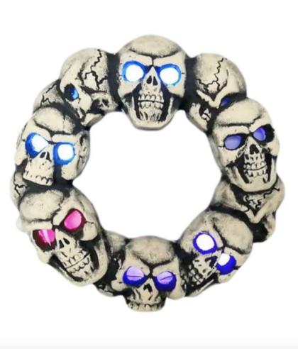 halloween decoration skull wreath