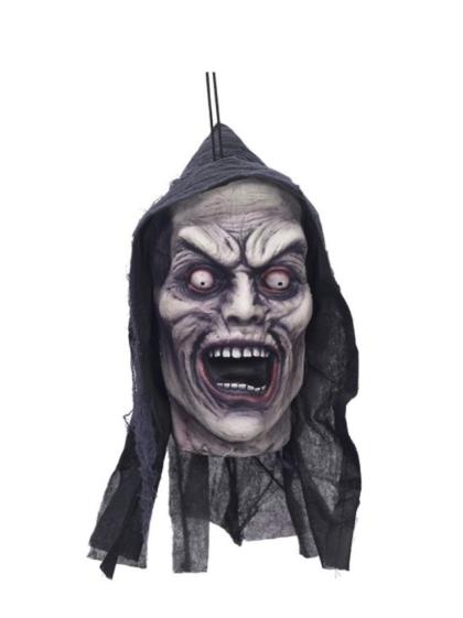 Hanging head scareamer prop