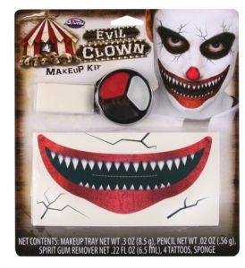 Evil clown makeup kit