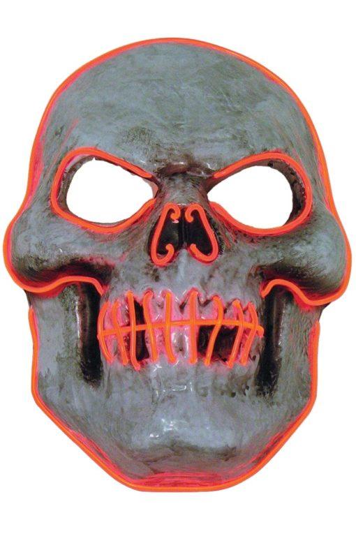 led light up skull mask