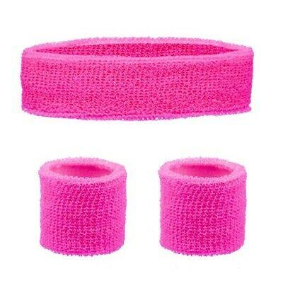 Fluro pink sweat bands